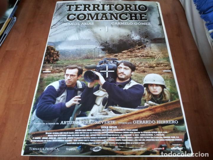 TERRITORIO COMANCHE - IMANOL ARIAS, CARMELO GÓMEZ, CECILIA DOPAZO - POSTER ORIGINAL ALTA 1996 (Cine - Posters y Carteles - Clasico Español)