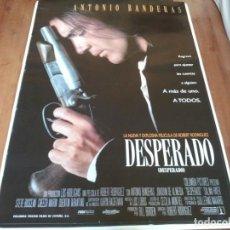 Cine: DESPERADO - ANTONIO BANDERAS, JOAQUIM DE ALMEIDA, SALMA HAYEK - POSTER ORIGINAL COLUMBIA 1995. Lote 235098740