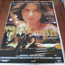 Cine: SUS OJOS SE CERRARON - DARÍO GRANDINETTI, AITANA SÁNCHEZ-GIJÓN - POSTER ORIGINAL BUENAVISTA AÑO 1997. Lote 235100115