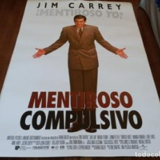 Cine: MENTIROSO COMPULSIVO - JIM CARREY, MAURA TIERNEY, JENNIFER TILLY - POSTER ORIGINAL U.I.P AÑO 1997. Lote 235110795