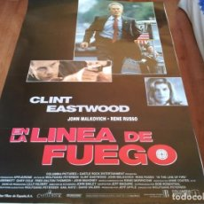 Cine: EN LA LÍNEA DE FUEGO - CLINT EASTWOOD, JOHN MALKOVICH, RENÉ RUSSO - POSTER ORIGINAL COLUMBIA 1993. Lote 235112440