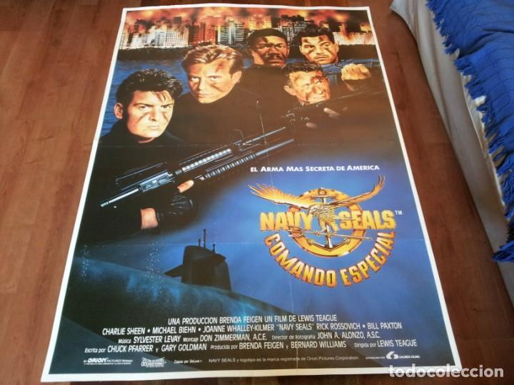 NAVY SEALS, COMANDO ESPECIAL - CHARLIE SHEEN, MICHAEL BIEHN - POSTER ORIGINAL LAUREN AÑO 1990 (Cine - Posters y Carteles - Bélicas)