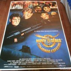 Cine: NAVY SEALS, COMANDO ESPECIAL - CHARLIE SHEEN, MICHAEL BIEHN - POSTER ORIGINAL LAUREN AÑO 1990. Lote 235113200