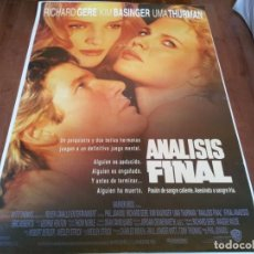 Cine: ANÁLISIS FINAL - RICHARD GERE, KIM BASINGER, UMA THURMAN - POSTER ORIGINAL WARNER 1992. Lote 235113865