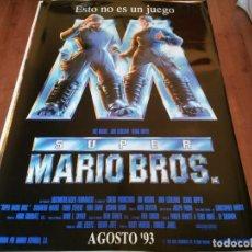 Cine: SUPER MARIO BROS - BOB HOSKINS, DENNIS HOPPER, JOHN LEGIZAMO - POSTER ORIGINAL WARNER AÑO 1993. Lote 235115370
