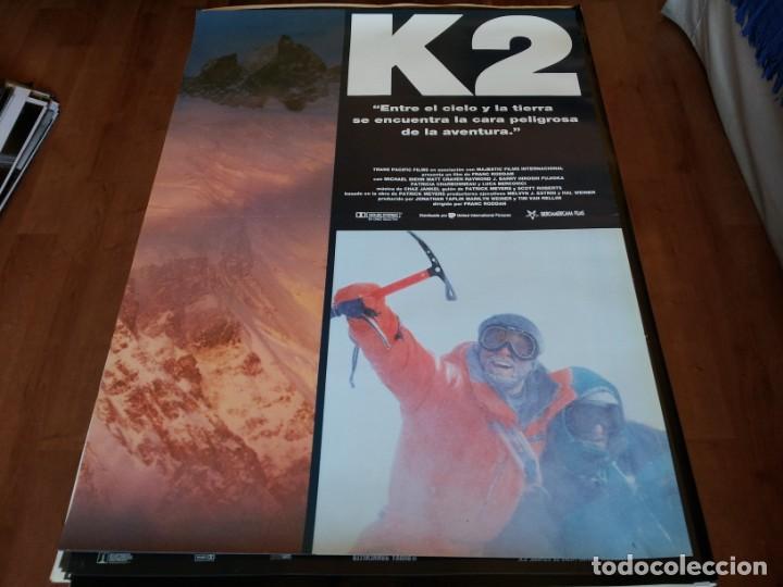 K2 - MICHAEL BIEHN, MATT CRAVEN, PATRICIA CHARBONNEAU - POSTER ORIGINAL U.I.P 1991 (Cine - Posters y Carteles - Deportes)