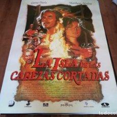 Cine: LA ISLA DE LAS CABEZAS CORTADAS - GEENA DAVIS, MATTHEW MODINE - POSTER ORIGINAL UNION AÑO 1995. Lote 235120155