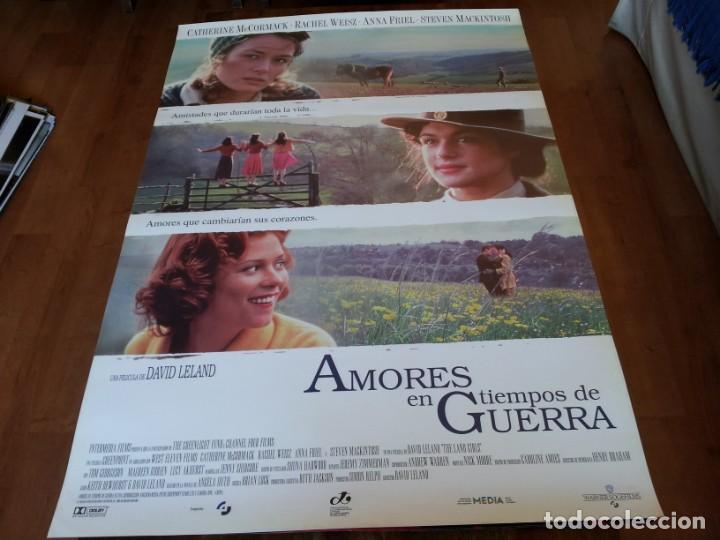 AMORES EN TIEMPOS DE GUERRA - CATHERINE MCCORMACK, RACHEL WEISZ - POSTER ORIGINAL WARNER 1998 (Cine- Posters y Carteles - Drama)