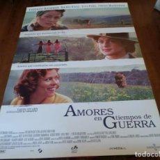 Cine: AMORES EN TIEMPOS DE GUERRA - CATHERINE MCCORMACK, RACHEL WEISZ - POSTER ORIGINAL WARNER 1998. Lote 235130440