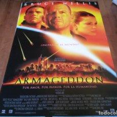 Cine: ARMAGEDDON - BRUCE WILLIS, BEN AFFLECK, LIV TYLER, STEVE BUSCEMI - POSTER ORIGINAL BUENAVISTA 1998. Lote 235131460