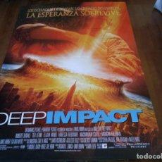 Cine: DEEP IMPACT - ROBERT DUVALL, TÉA LEONI, ELIJAH WOOD, VANESSA REDGRAVE - POSTER ORIGINAL U.I.P 1998. Lote 235139490
