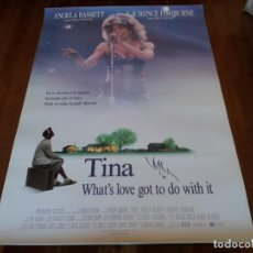 Cine: TINA WHAT'S LOVE GOT TO DO WITH IT - ANGELA BASSETT, L. FISHBURNE - POSTER ORIGINAL BUENAVISTA 1999. Lote 235140595