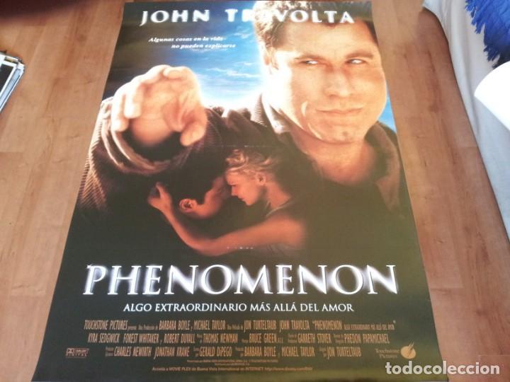 PHENOMENON - JOHN TRAVOLTA,KYRA SEDGWICK,FOREST WHITAKER,R. DUVALL - POSTER ORIGINAL BUENAVISTA 1996 (Cine- Posters y Carteles - Drama)