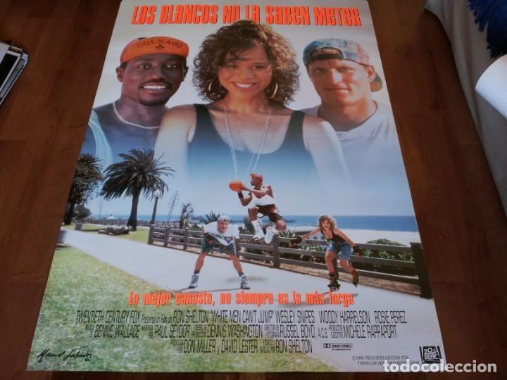 LOS BLANCOS NO LA SABEN METER - WOODY HARRELSON,WESLEY SNIPES,ROSIE PÉREZ - POSTER ORIGINAL FOX 1992 (Cine - Posters y Carteles - Deportes)