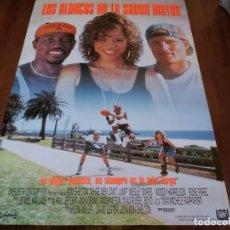 Cine: LOS BLANCOS NO LA SABEN METER - WOODY HARRELSON,WESLEY SNIPES,ROSIE PÉREZ - POSTER ORIGINAL FOX 1992. Lote 235144015