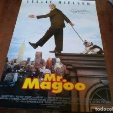 Cine: MR. MAGOO - LESLIE NIELSEN, KELLY LYNCH, MATT KEESLAR - POSTER ORIGINAL BUENAVISTA 1998. Lote 235146855