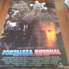 Cine: FORTALEZA INFERNAL - CHRISTOPHER LAMBERT,KURTWOOD SMITH,LORYN LOCKLIN POSTER ORIGINAL COLUMBIA 1992. Lote 235161005