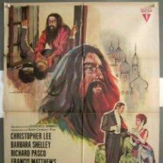 Cine: YJ91D RASPUTIN HAMMER CHRISTOPHER LEE POSTER ORIGINAL 70X100 ESTRENO. Lote 235200500