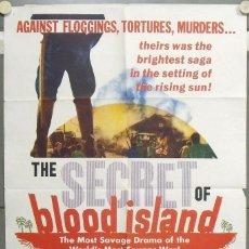 Cine: PG57D THE SECRET OF BLOOD ISLAND HAMMER BARBARA SHELLEY POSTER ORIGINAL AMERICANO 70X105. Lote 235201215