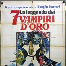 Cine: UA41D KUNG-FU CONTRA LOS 7 VAMPIROS DE ORO HAMMER PETER CUSHING POSTER ORIGINAL ITALIANO 100X140. Lote 235202790