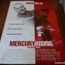 Cine: MERCURY RISING AL ROJO VIVO - BRUCE WILLIS, ALEC BALDWIN, CHI MCBRIDE - POSTER ORIGINAL U.I.P 1998. Lote 235300770