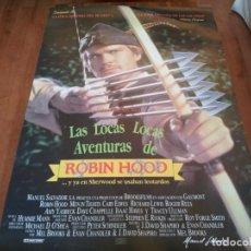 Cine: LAS LOCAS, LOCAS AVENTURAS DE ROBIN HOOD - CARY ELWES, RICHARD LEWIS - POSTER ORIGINAL FOX 1993. Lote 235303225