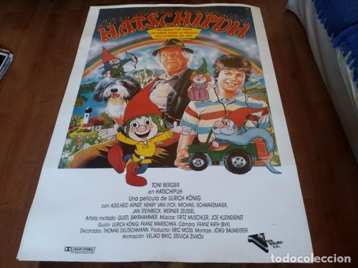 HATSCHIPUH - ANIMACION, TONI BERGER, HENRY VAN LYCK,ADELHEID ARNDT - POSTER ORIGINAL VISA FILMS 1987 (Cine - Posters y Carteles - Infantil)