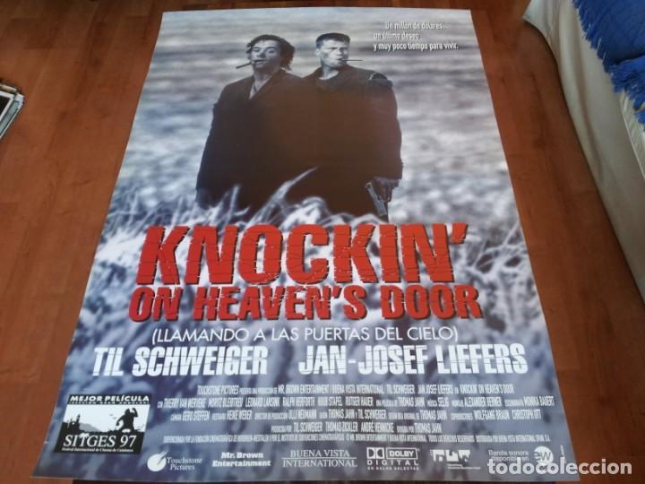 KNOCKIN' ON HEAVEN'S DOOR - TIL SCHWEIGER, JAN JOSEF LIEFERS - POSTER ORIGINAL BUENAVISTA 1997 (Cine - Posters y Carteles - Comedia)