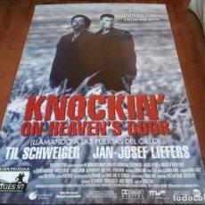 Cine: KNOCKIN' ON HEAVEN'S DOOR - TIL SCHWEIGER, JAN JOSEF LIEFERS - POSTER ORIGINAL BUENAVISTA 1997. Lote 235307090