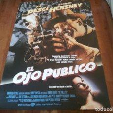 Cine: EL OJO PÚBLICO - JOE PESCI,BARBARA HERSHEY,RICHARD RIEHLE,STANLEY TUCCI - POSTER ORIGINAL U.I.P 1992. Lote 235307900