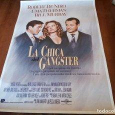 Cine: LA CHICA DEL GÁNGSTER - ROBERT DE NIRO, UMA THURMAN, BILL MURRAY - POSTER ORIGINAL U.I.P 1993. Lote 235308250
