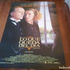 Cine: LO QUE QUEDA DEL DÍA - ANTHONY HOPKINS, EMMA THOMPSON, JAMES FOX - POSTER ORIGINAL COLUMBIA 1993. Lote 235308935