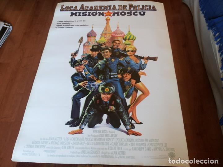 LOCA ACADEMIA DE POLICÍA 7 MISIÓN EN MOSCÚ - RON PERLMAN,CLAIRE FORLANI - POSTER ORIGINAL WARNER1994 (Cine - Posters y Carteles - Comedia)