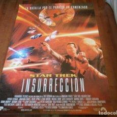 Cine: STAR TREK INSURRECCIÓN - PATRICK STEWART, LEVAR BURTON - POSTER ORIGINAL U.I.P AÑO 1998. Lote 235313520