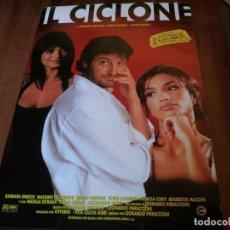 Cine: IL CICLONE - NATALIA ESTRADA, LEONARDO PIERACCIONI, LORENA FORTEZA - POSTER ORIGINAL BUENAVISTA 1996. Lote 235315965