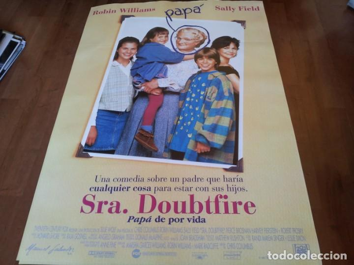 SRA. DOUBTFIRE - ROBIN WILLIAMS, SALLY FIELD, PIERCE BROSNAN - POSTER ORIGINAL FOX 1993 (Cine - Posters y Carteles - Comedia)