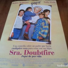 Cine: SRA. DOUBTFIRE - ROBIN WILLIAMS, SALLY FIELD, PIERCE BROSNAN - POSTER ORIGINAL FOX 1993. Lote 278968303
