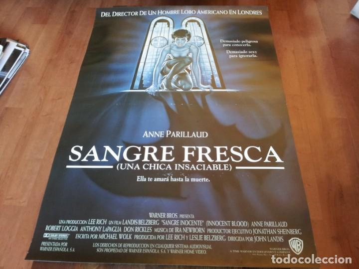 SANGRE FRESCA - ANNE PARILLAUD, CHAZZ PALMINTERI, ANTHONY LAPAGLIA - POSTER ORIGINAL WARNER 1992 (Cine - Posters y Carteles - Terror)