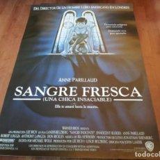 Cine: SANGRE FRESCA - ANNE PARILLAUD, CHAZZ PALMINTERI, ANTHONY LAPAGLIA - POSTER ORIGINAL WARNER 1992. Lote 235320575