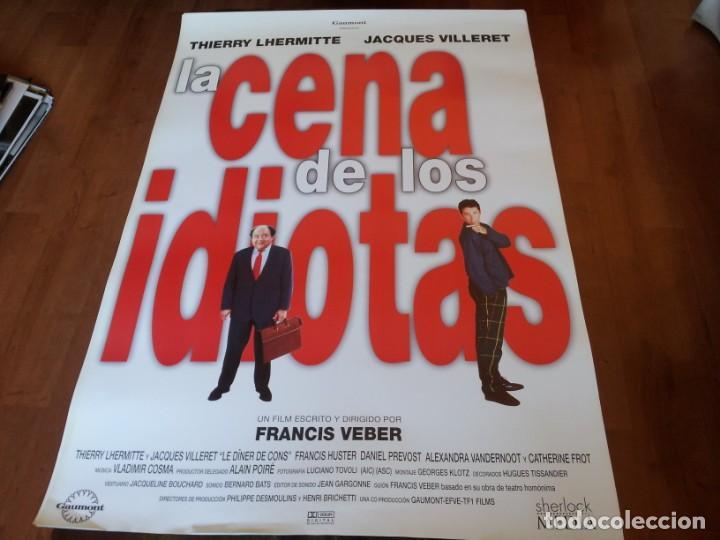 LA CENA DE LOS IDIOTAS - THIERRY LHERMITTE, JACQUES VILLERET,F. VEBER - POSTER ORIGINAL GAUMONT 1998 (Cine - Posters y Carteles - Comedia)