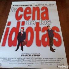 Cine: LA CENA DE LOS IDIOTAS - THIERRY LHERMITTE, JACQUES VILLERET,F. VEBER - POSTER ORIGINAL GAUMONT 1998. Lote 235321755