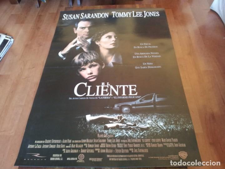 EL CLIENTE - BRAD RENFRO, SUSAN SARANDON, TOMMY LEE JONES - POSTER ORIGINAL WARNER 1994 (Cine - Posters y Carteles - Suspense)