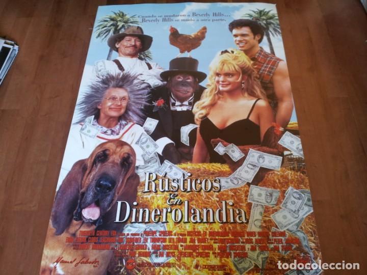 RÚSTICOS EN DINEROLANDIA - JIM VARNEY, LILY TOMLIN, ERIKA ELENIAK - POSTER ORIGINAL FOX 1993 (Cine - Posters y Carteles - Comedia)
