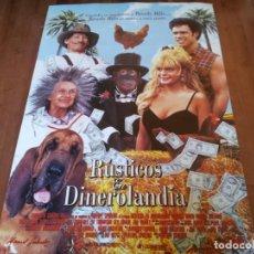 Cine: RÚSTICOS EN DINEROLANDIA - JIM VARNEY, LILY TOMLIN, ERIKA ELENIAK - POSTER ORIGINAL FOX 1993. Lote 235324660