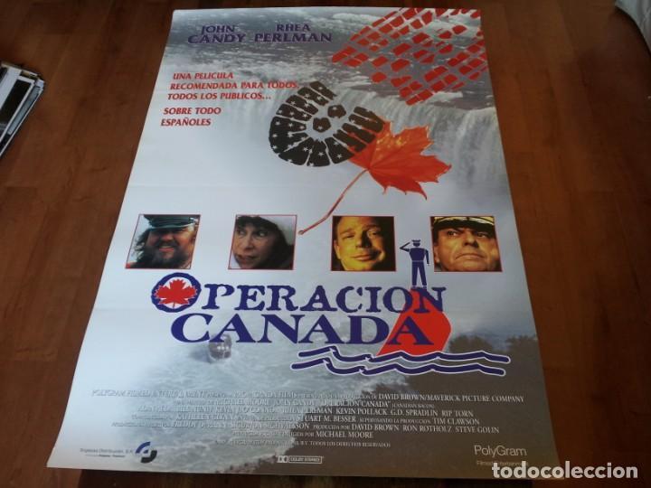 OPERACIÓN CANADÁ - ALAN ALDA, JOHN CANDY, KEVIN POLLAK, RHEA PERLMAN - POSTER ORIGINAL SOGEPAQ 1995 (Cine - Posters y Carteles - Comedia)