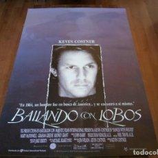 Cine: BAILANDO CON LOBOS - KEVIN COSTNER, MARY MCDONNELL, WES STUDI - POSTER ORIGINAL U.I.P 1990. Lote 235330555