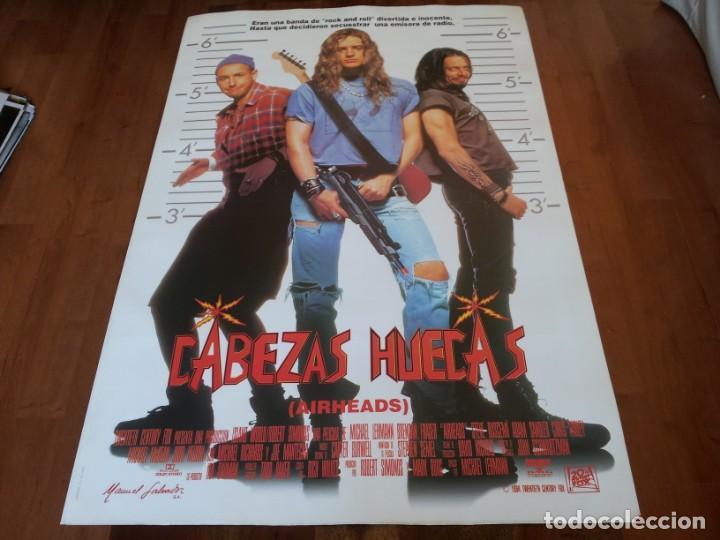 CABEZAS HUECAS - STEVE BUSCEMI, BRENDAN FRASER, ADAM SANDLER, CHRIS FARLEY - POSTER ORIGINAL 1994 (Cine - Posters y Carteles - Comedia)