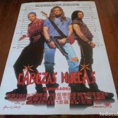 Cine: CABEZAS HUECAS - STEVE BUSCEMI, BRENDAN FRASER, ADAM SANDLER, CHRIS FARLEY - POSTER ORIGINAL 1994. Lote 235331040