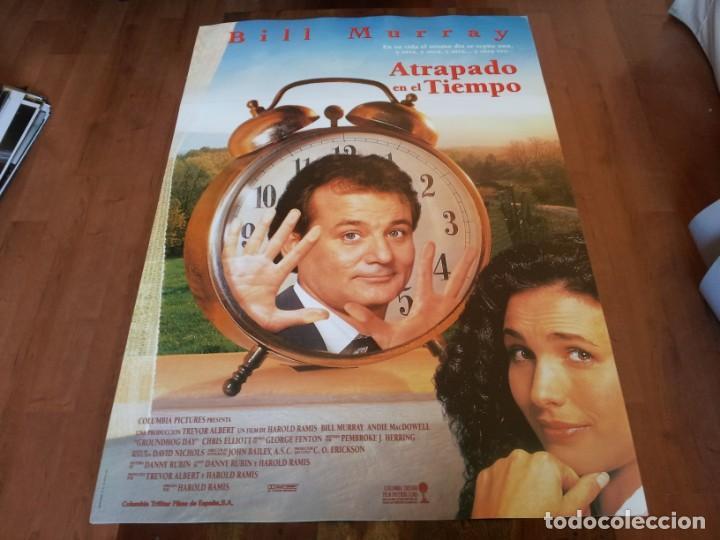 ATRAPADO EN EL TIEMPO - BILL MURRAY, ANDIE MACDOWELL - POSTER ORIGINAL COLUMBIA AÑO 1993 (Cine - Posters y Carteles - Comedia)