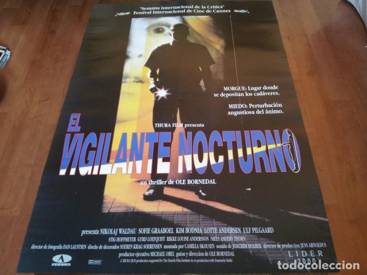 EL VIGILANTE NOCTURNO - NIKOLAJ COSTER-WALDAU, SOFIE GRÅBØL, KIM BODNIA - POSTER ORIGINAL AURUM 1994 (Cine - Posters y Carteles - Terror)